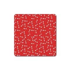 Fish Bones Pattern Square Magnet by ValentinaDesign