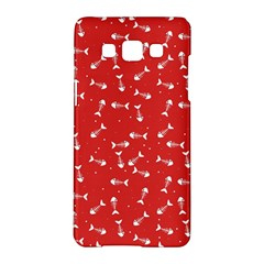 Fish Bones Pattern Samsung Galaxy A5 Hardshell Case  by ValentinaDesign