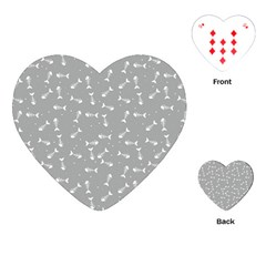 Fish Bones Pattern Playing Cards (heart)  by ValentinaDesign