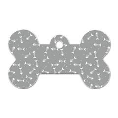 Fish Bones Pattern Dog Tag Bone (two Sides) by ValentinaDesign