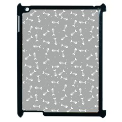 Fish Bones Pattern Apple Ipad 2 Case (black) by ValentinaDesign