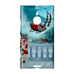 Christmas Design, Santa Claus With Reindeer In The Sky Nokia Lumia 1520 by FantasyWorld7