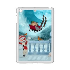Christmas Design, Santa Claus With Reindeer In The Sky Ipad Mini 2 Enamel Coated Cases by FantasyWorld7