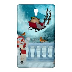 Christmas Design, Santa Claus With Reindeer In The Sky Samsung Galaxy Tab S (8 4 ) Hardshell Case  by FantasyWorld7