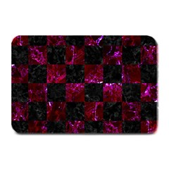 Square1 Black Marble & Burgundy Marble Plate Mats by trendistuff
