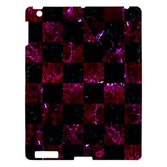 Square1 Black Marble & Burgundy Marble Apple Ipad 3/4 Hardshell Case by trendistuff