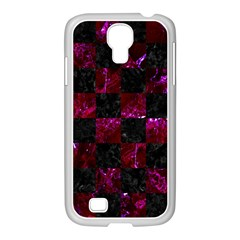 Square1 Black Marble & Burgundy Marble Samsung Galaxy S4 I9500/ I9505 Case (white) by trendistuff