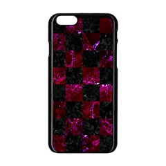 Square1 Black Marble & Burgundy Marble Apple Iphone 6/6s Black Enamel Case by trendistuff