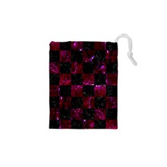 Square1 Black Marble & Burgundy Marble Drawstring Pouches (xs)  by trendistuff