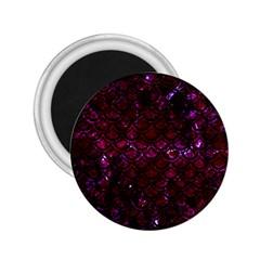 Scales2 Black Marble & Burgundy Marble (r) 2 25  Magnets by trendistuff