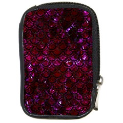 Scales2 Black Marble & Burgundy Marble (r) Compact Camera Cases by trendistuff