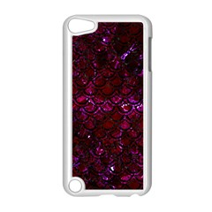 Scales2 Black Marble & Burgundy Marble (r) Apple Ipod Touch 5 Case (white) by trendistuff
