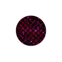 Circles2 Black Marble & Burgundy Marble Golf Ball Marker (10 Pack) by trendistuff