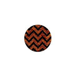 Chevron9 Black Marble & Copper Foil (r) 1  Mini Magnets by trendistuff