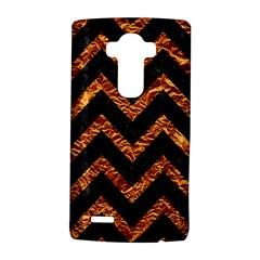 Chevron9 Black Marble & Copper Foil Lg G4 Hardshell Case by trendistuff