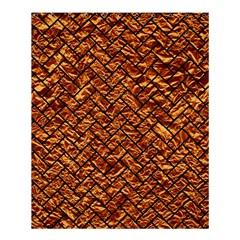Brick2 Black Marble & Copper Foil (r) Shower Curtain 60  X 72  (medium)  by trendistuff