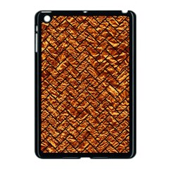 Brick2 Black Marble & Copper Foil (r) Apple Ipad Mini Case (black) by trendistuff
