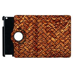 Brick2 Black Marble & Copper Foil (r) Apple Ipad 3/4 Flip 360 Case by trendistuff