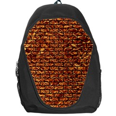 Brick1 Black Marble & Copper Foil (r) Backpack Bag by trendistuff