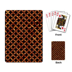 Circle3 Black Marble & Copper Foilper Foil Playing Card by trendistuff