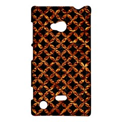 Circle3 Black Marble & Copper Foilper Foil Nokia Lumia 720 by trendistuff