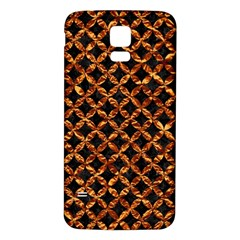 Circle3 Black Marble & Copper Foilper Foil Samsung Galaxy S5 Back Case (white) by trendistuff