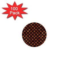 Circles3 Black Marble & Copper Foil (r) 1  Mini Buttons (100 Pack)  by trendistuff