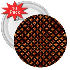 Circles3 Black Marble & Copper Foil (r) 3  Buttons (10 Pack)  by trendistuff