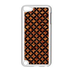 Circles3 Black Marble & Copper Foil (r) Apple Ipod Touch 5 Case (white) by trendistuff