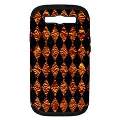 Diamond1 Black Marble & Copper Foilcopper Foil Samsung Galaxy S Iii Hardshell Case (pc+silicone) by trendistuff