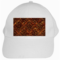 Damask1 Black Marble & Copper Foil (r) White Cap