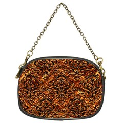Damask1 Black Marble & Copper Foil (r) Chain Purses (one Side)  by trendistuff