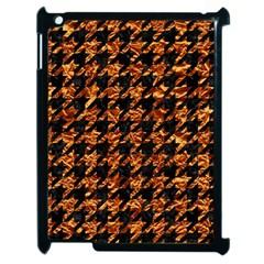 Houndstooth1 Black Marble & Copper Foil Apple Ipad 2 Case (black) by trendistuff