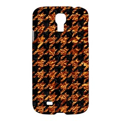 Houndstooth1 Black Marble & Copper Foil Samsung Galaxy S4 I9500/i9505 Hardshell Case by trendistuff