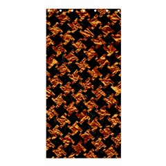 Houndstooth2 Black Marble & Copper Foil Shower Curtain 36  X 72  (stall)  by trendistuff