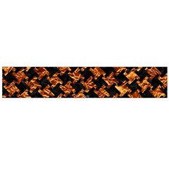 Houndstooth2 Black Marble & Copper Foil Flano Scarf (large) by trendistuff
