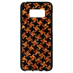 Houndstooth2 Black Marble & Copper Foil Samsung Galaxy S8 Black Seamless Case by trendistuff