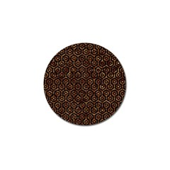 Hexagon1 Black Marble & Copper Foil Golf Ball Marker (4 Pack) by trendistuff
