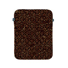 Hexagon1 Black Marble & Copper Foil Apple Ipad 2/3/4 Protective Soft Cases by trendistuff