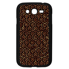 Hexagon1 Black Marble & Copper Foil Samsung Galaxy Grand Duos I9082 Case (black) by trendistuff