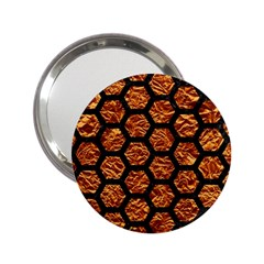 Hexagon2 Black Marble & Copper Foil (r) 2 25  Handbag Mirrors by trendistuff