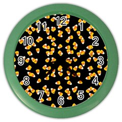 Candy Corn Color Wall Clocks by Valentinaart