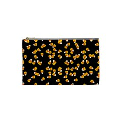 Candy Corn Cosmetic Bag (small)  by Valentinaart