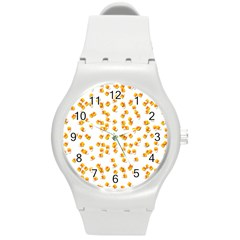 Candy Corn Round Plastic Sport Watch (m)