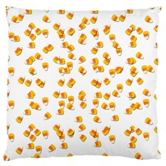 Candy Corn Large Cushion Case (two Sides) by Valentinaart
