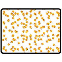 Candy Corn Double Sided Fleece Blanket (large)  by Valentinaart
