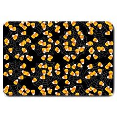 Candy Corn Large Doormat  by Valentinaart