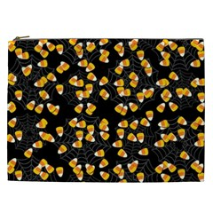 Candy Corn Cosmetic Bag (xxl)  by Valentinaart