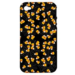 Candy Corn Apple Iphone 4/4s Hardshell Case (pc+silicone) by Valentinaart