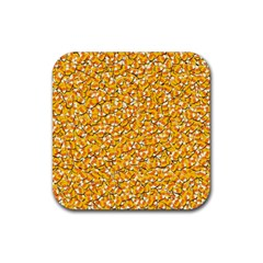 Candy Corn Rubber Coaster (square)  by Valentinaart